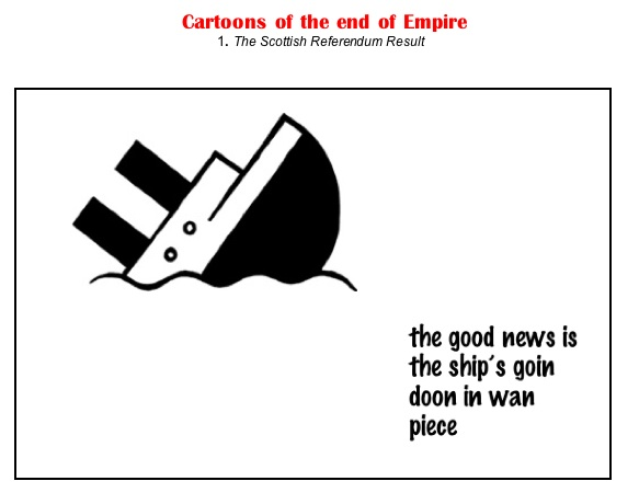 cartoons of the end of empire
